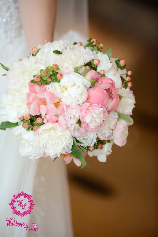 Elegant White Bridal Bouquet : Elegant white and pink bridal bouquet wedding