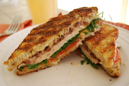 Chicken Panini with Goat Cheese and Arugula - Eating Made Easy