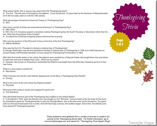 Per Your Request The Thanksgiving Trivia Printables Turnstylevogue ...
