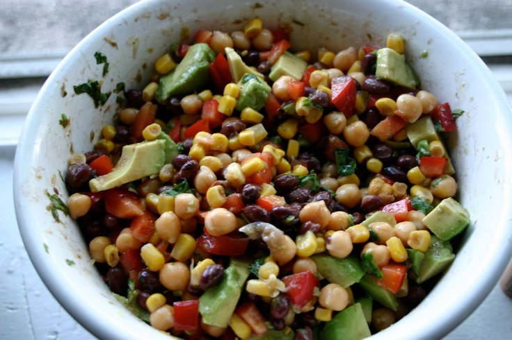 Corn , Black Bean, and Avocado Salad | Salads | Pinterest