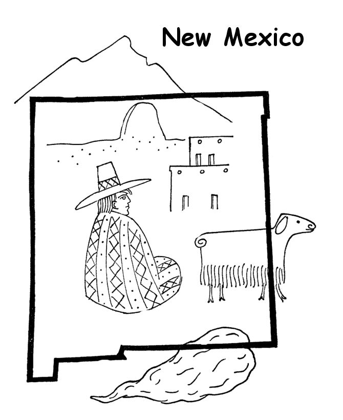 New mexico state flag coloring page coloring pages for New mexico state flag coloring page