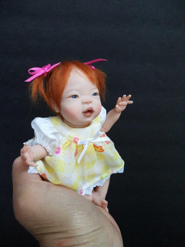 Ooak polymer clay baby doll girl pheobe original art doll by elsie wr