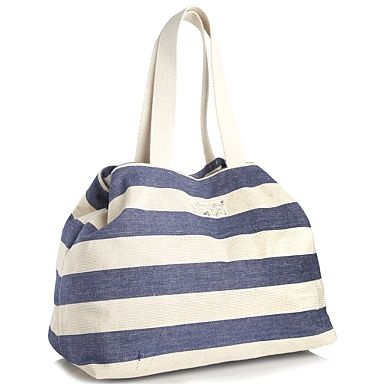 Blue lurex striped beach bag - Beach bags - Handbags  purses - Women ...