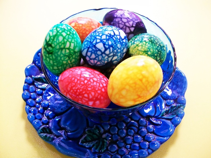 Marble Easter eggs. (f...
