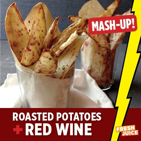 "Red Wine Potatoes (Potatoes ""Afelia"") Recipe — Dishmaps"