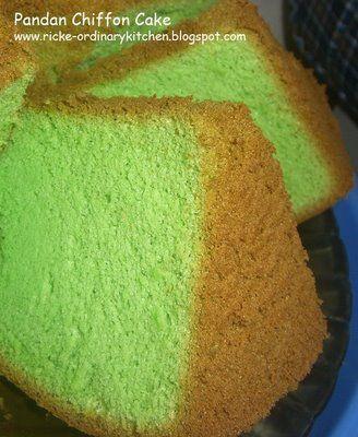 Pandan Chiffon Cake | Indonesian Recipes | Pinterest