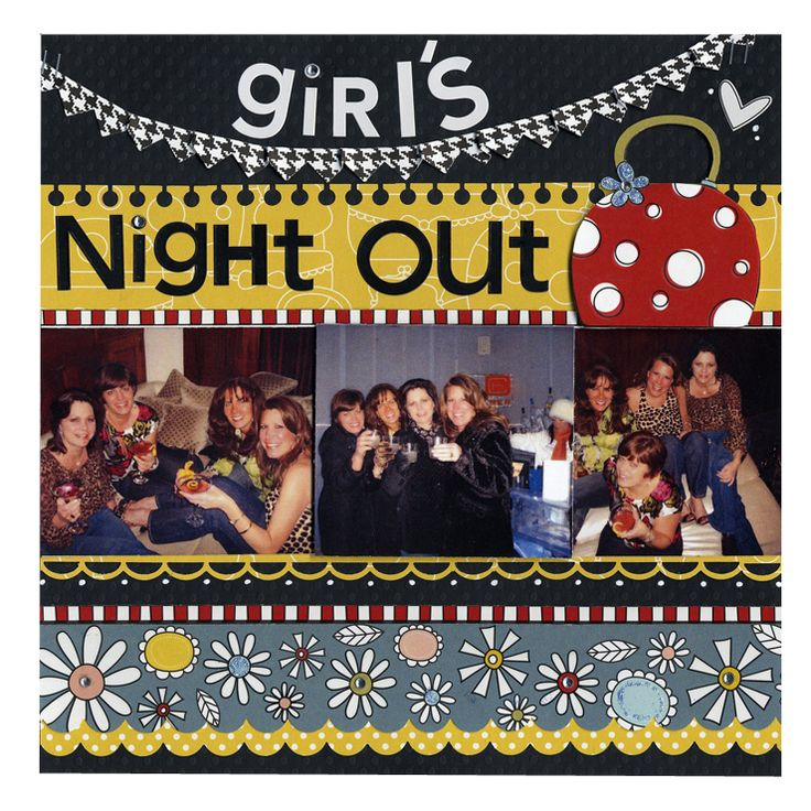 Girl's Night Out Friend 8x8 Layout