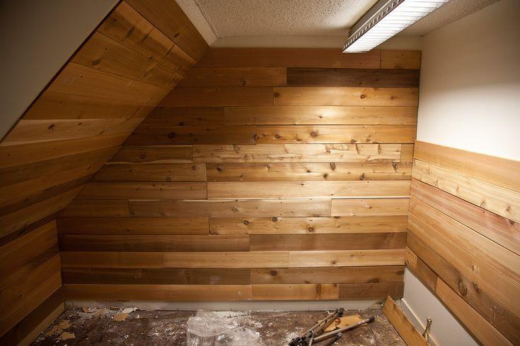 Diy Cedar Wall Bathroom Pinterest