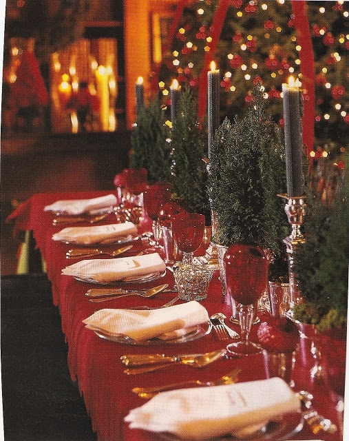 Holiday Tablescape Table Settings Pinterest