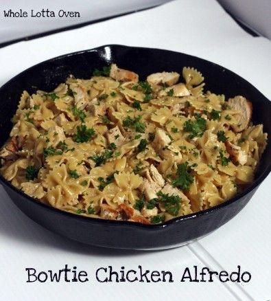 Bowtie Chicken Alfredo | | Food | Pinterest