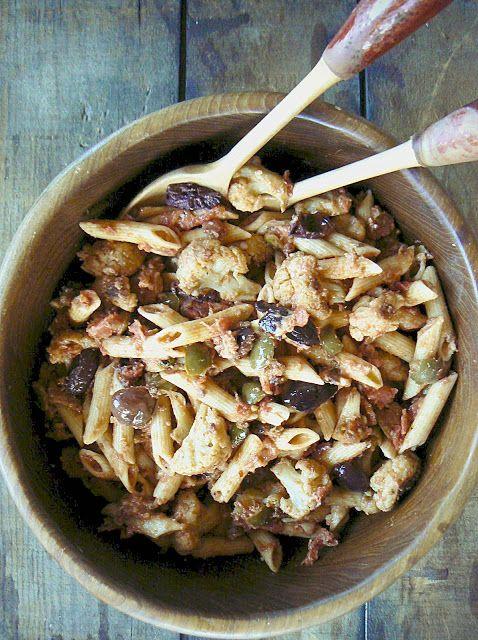 Cauliflower & Penne Puttanesca... | Sides next next please... | Pinte ...