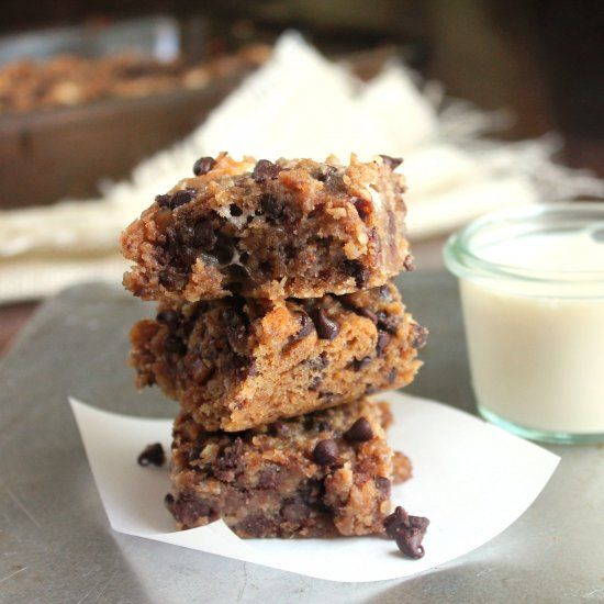 Whole grain Peanut Butter S'mores Bars made with oats, whole wheat ...