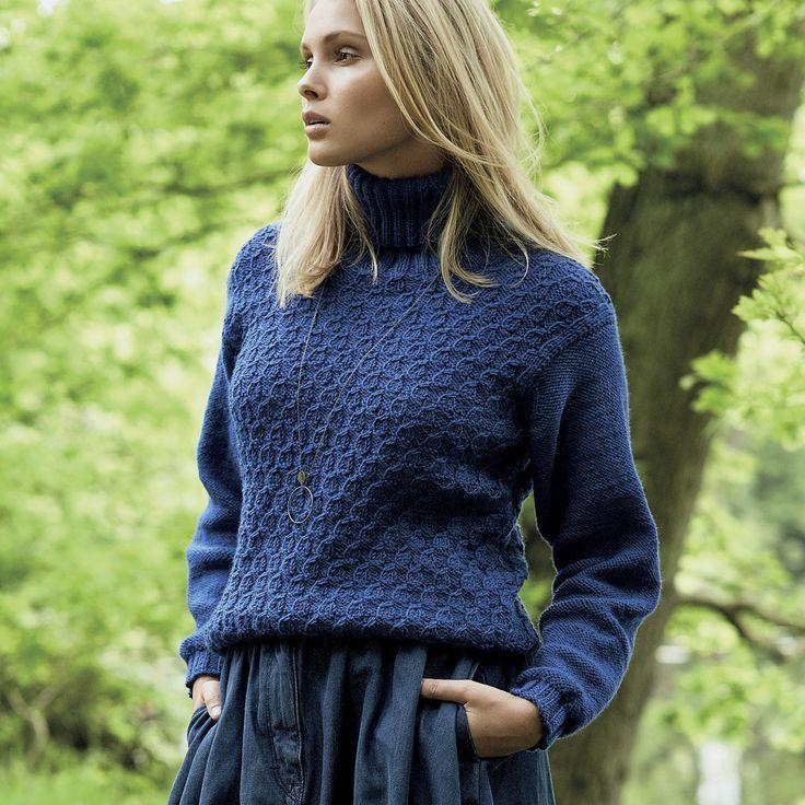 Вязание спицами пуловер с воротником 125