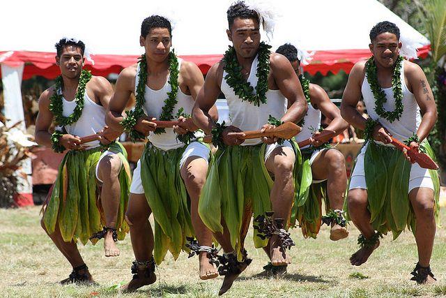 Tongan men tongan men doing traditional b topsy one