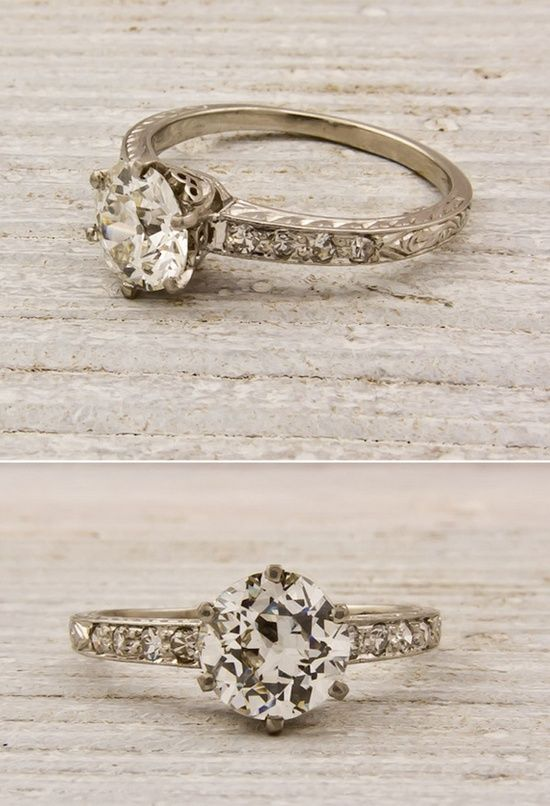 Simple Vintage Engagement Ring rally anything vintage y and I d prefer