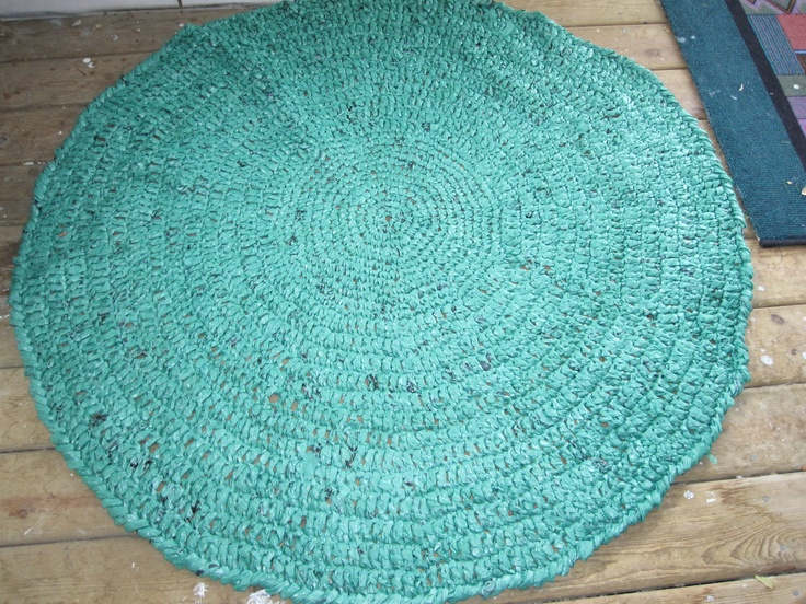 Rug Crocheted From Plastic Bags Repurpose Pinterest