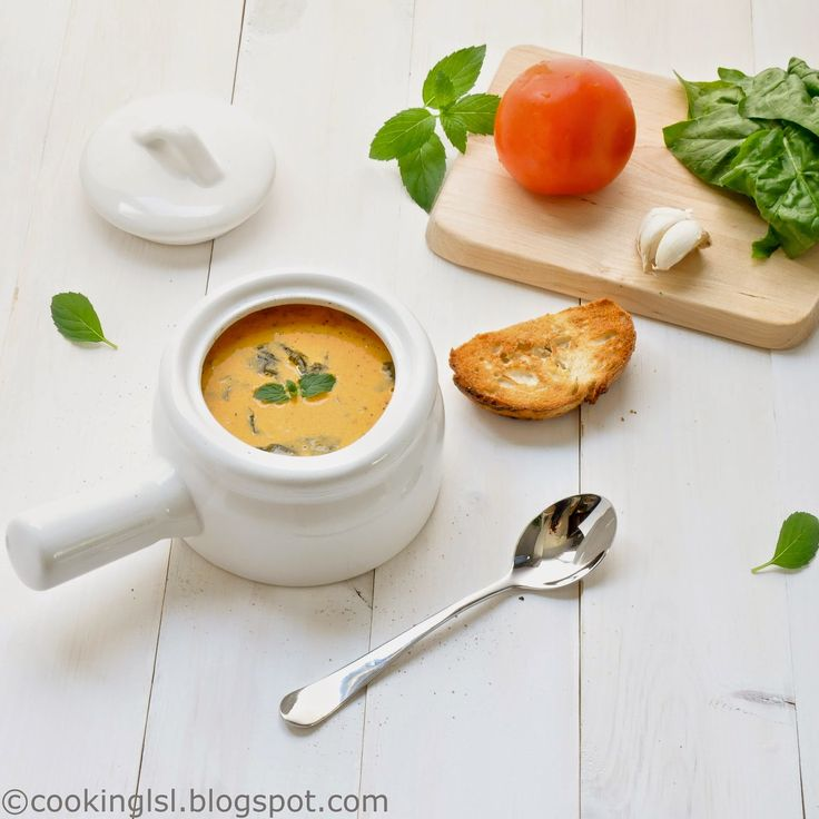 Tomato Florentine Soup Recipe #cookinglsl #tomato #florentine