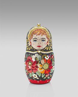 V0UT9 Judith Leiber Russian Doll Minaudiere ...love it