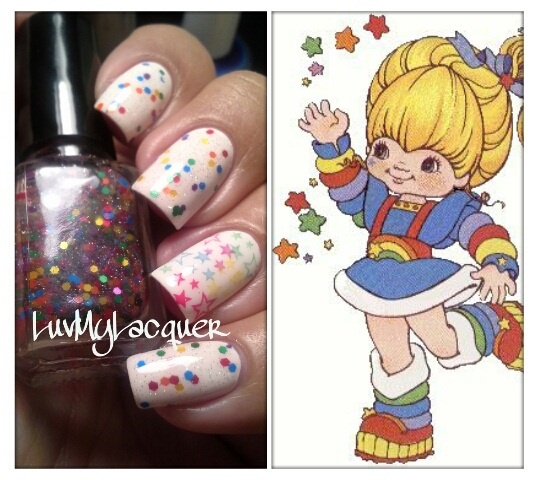 Please head on over for more pictures of my 80s Baby Inspired Manicure & this pretty franken I made =)