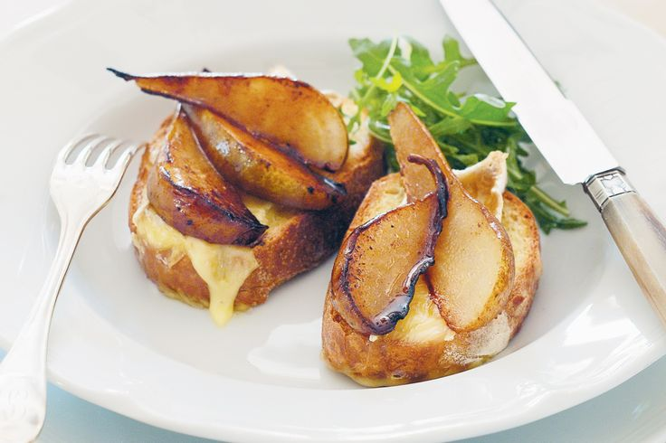 caramel-coated pears, these mini crusty toasts with melted creamy brie ...