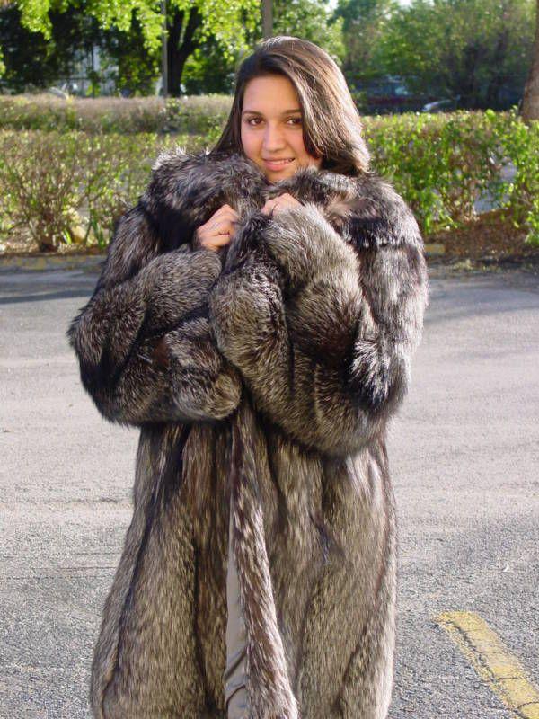 Silver Fox Fur Jacket | Santa Barbara Institute for Consciousness