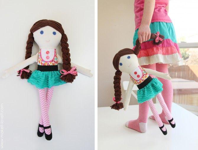 Как сделать куклу без шитья