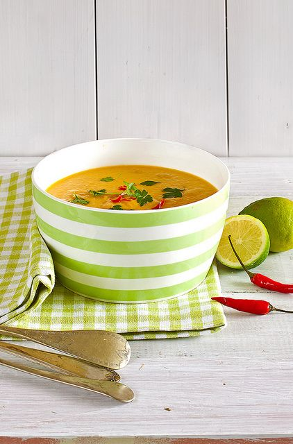 Red Lentil and Carrot Soup. (Has coconut milk and lots of other tasty ...