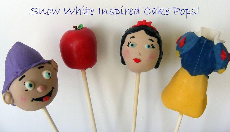 Snow White cake pops - follow this link for some more Disney princess cake pops!