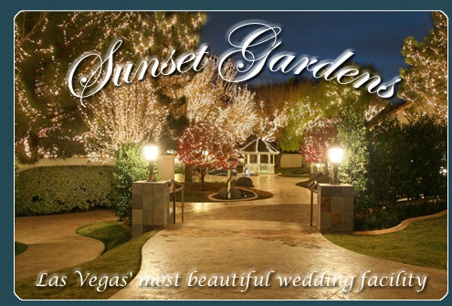 Sunset gardens las vegas i will get married pinterest for Las vegas sunset weddings
