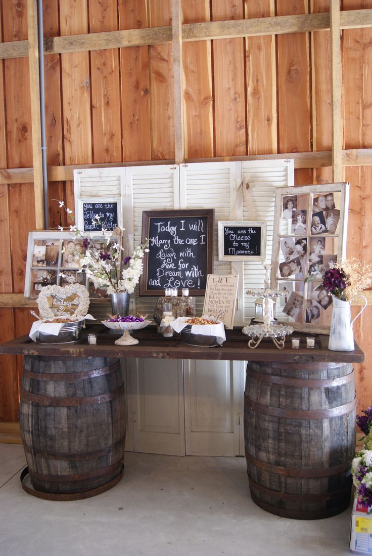 Rustic Wedding Gifts For Bride And Groom : chic rustic wedding bride and groom table decoration ideas-- old door ...