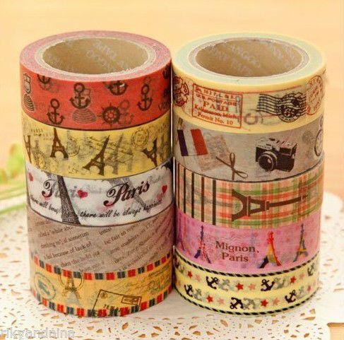Kawaii paris story series cute print washi tape fancy - Boutique masking tape paris ...