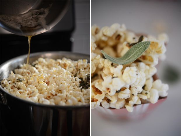 Brown Butter Sage Popcorn | Yummy: Appetizers & Snacks | Pinterest