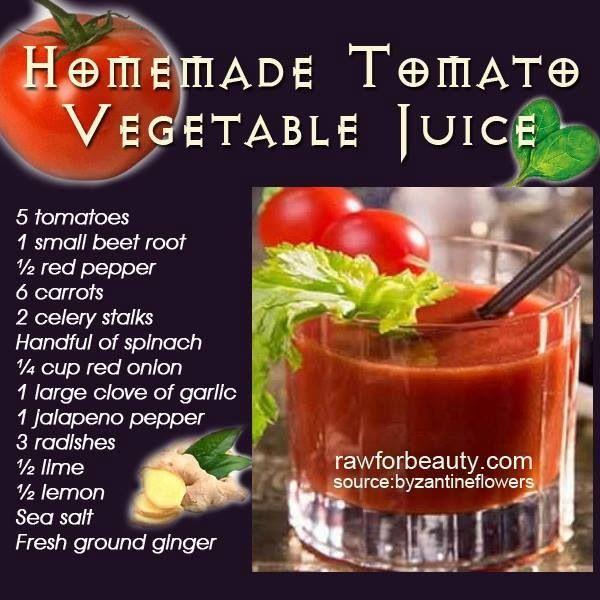 Homemade Tomato Juice | Food | Pinterest
