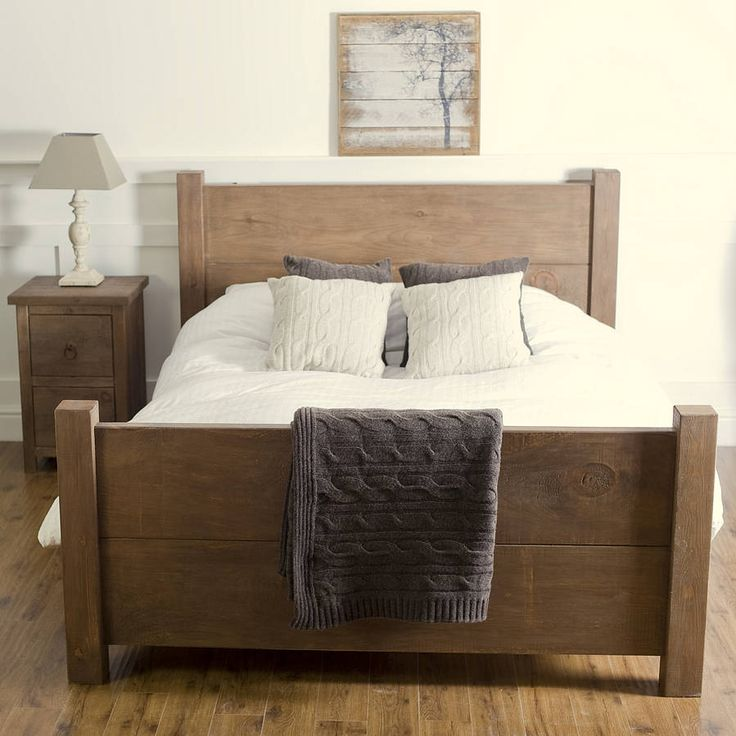 Chunky Wood Bed