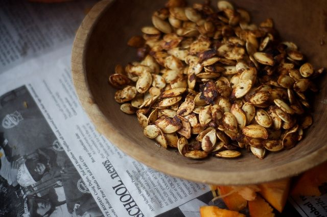 toasted pumpkin seeds: seeds from one large pumpkin (about 1 cup) 1 1 ...