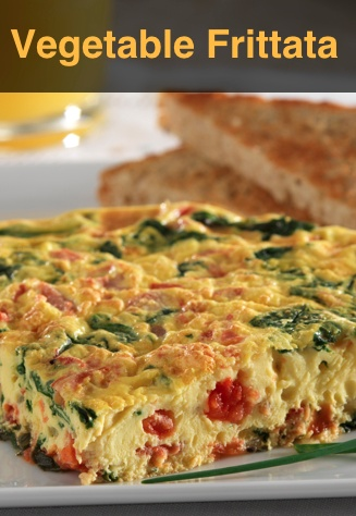 Quick Vegetable Frittata... A quick and easy dish, this recipe is ...