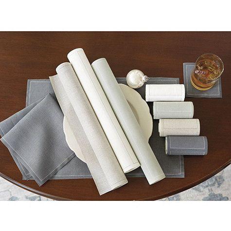 Savona Disposable Linen Placemats by Ballard Designs  I  ballarddesigns.com