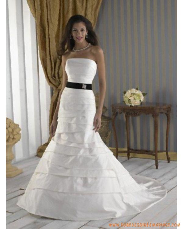 Robe de mariée sirène bustier avec ruban  Mariage  Pinterest