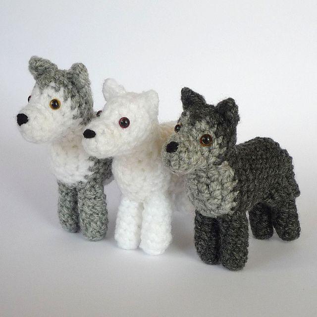 Amigurumi Wolf Pattern : love these little guys! Animal Amigurumi Patterns ...