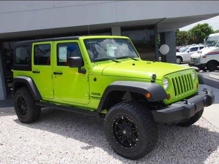 lime green jeep wrangler 4 door for sale. Black Bedroom Furniture Sets. Home Design Ideas