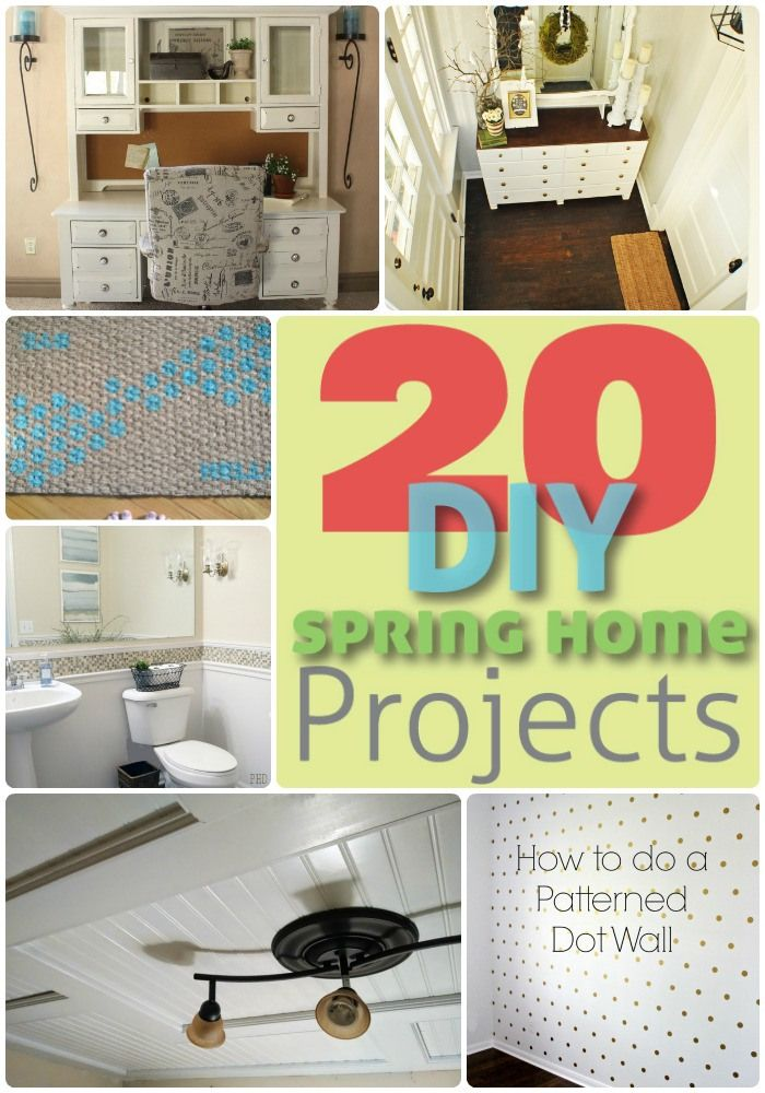 Great Ideas -- 20 Spring Home DIY Projects! -- Tatertots and Jello #DIY #Spring