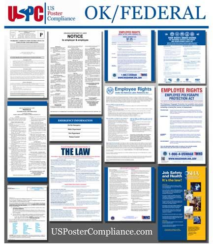 Oklahoma state and federal compliance labor law poster