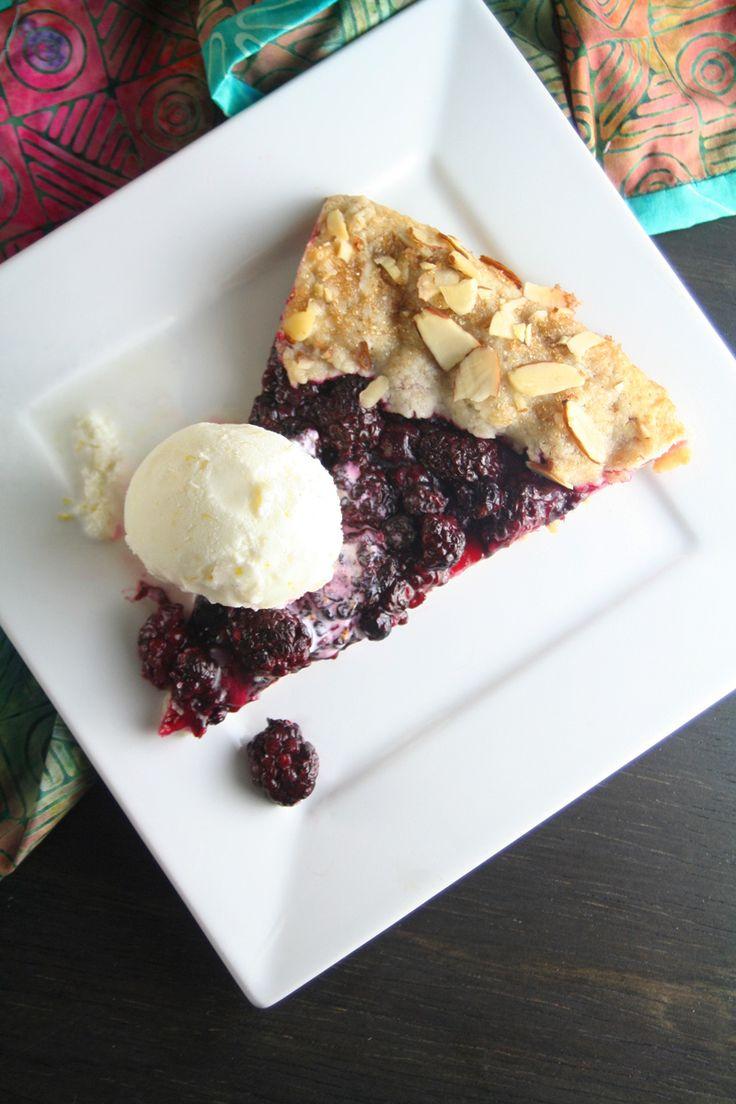 Blackberry Galette with Lemon Ice Cream | Blackberries | Pinterest
