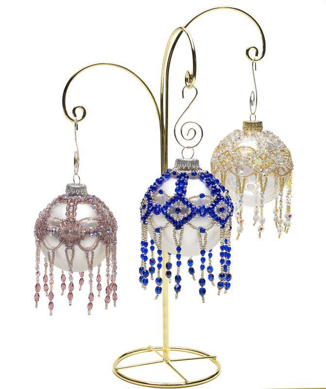 Glittering globes - Featured in the October 2011 issue of Bead Magazine. Designed by Cathy Lampole.