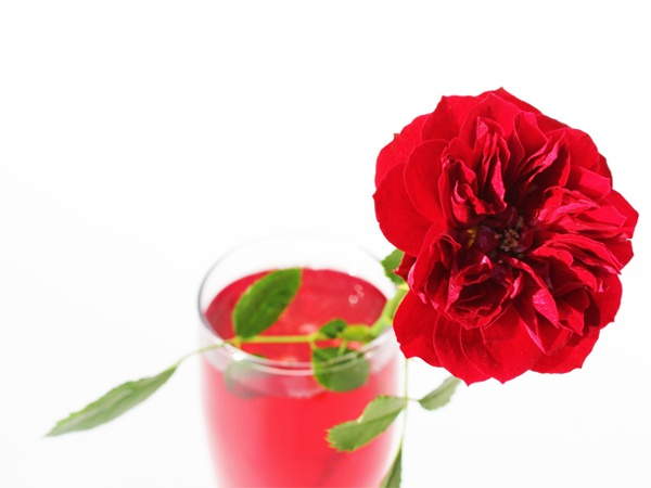 pomegranate rose sparkling cocktail   Drinks   Pinterest