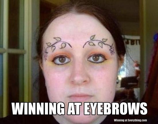 Seriously? How cracked out did she have to be to have thought this was a super duper idea? I hope that is just eyeliner and not tattooed on.