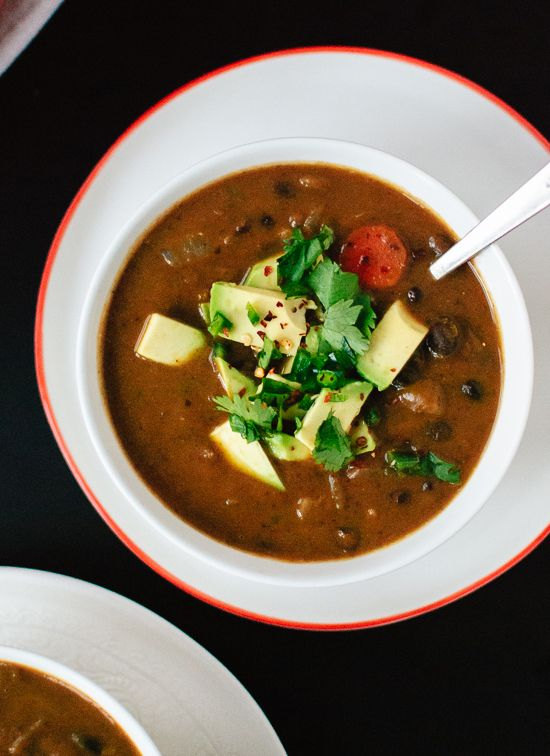 Spicy Vegan Black Bean Soup - Cookie and Kate
