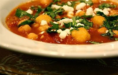 savory nest: Mexican Tomato-Bean Soup with Mini Cornmeal Dumplings ...