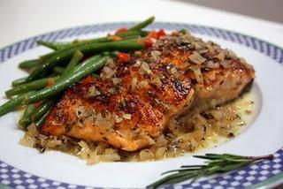 Maple Orange-Glazed Salmon with Rosemary | Food | Pinterest
