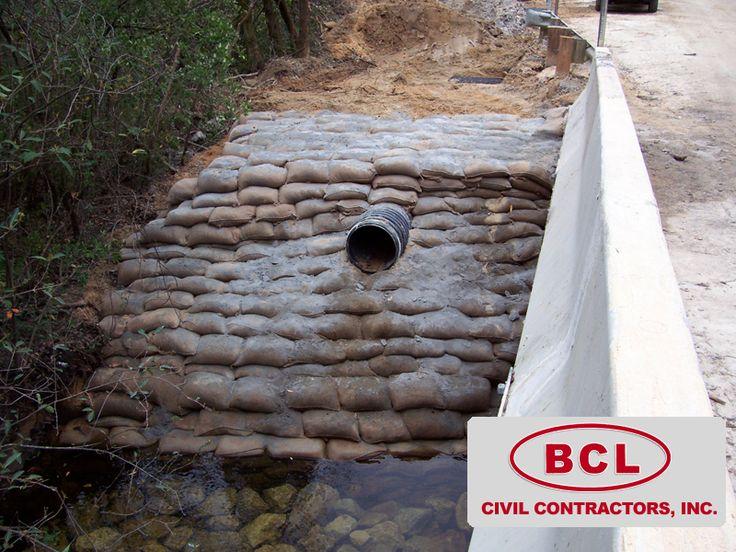 Concrete Bag Retaining Wall BCL CIVIL CONTRACTORS INC